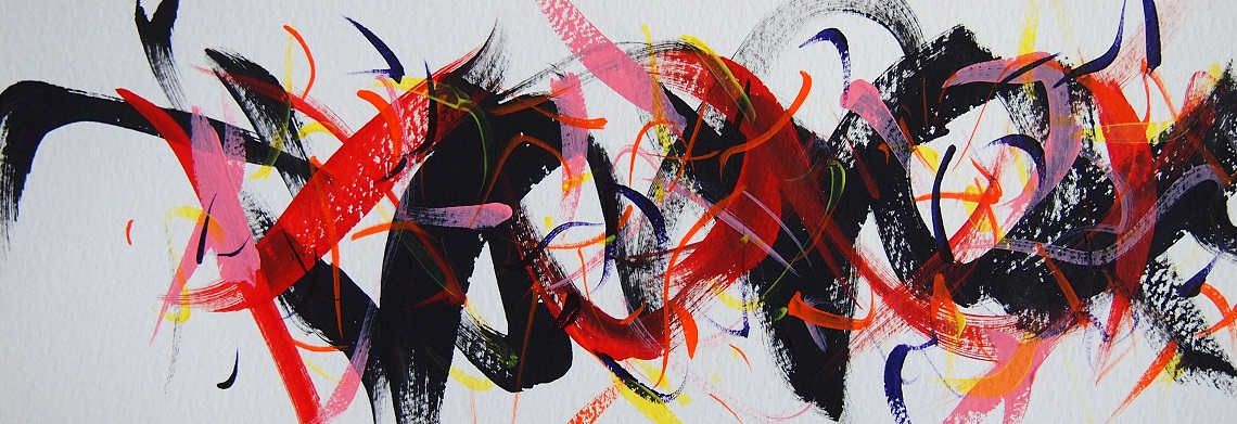 Untitled 210525,  Acrylic on paper,  96×270mm