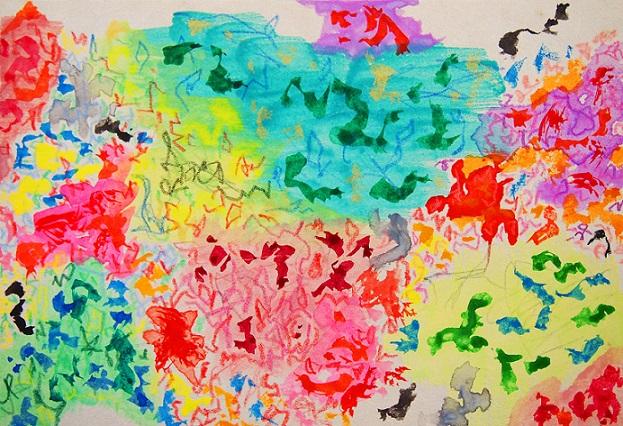 Nature #19 水彩、色鉛筆、麻紙 15.8×22.7cm