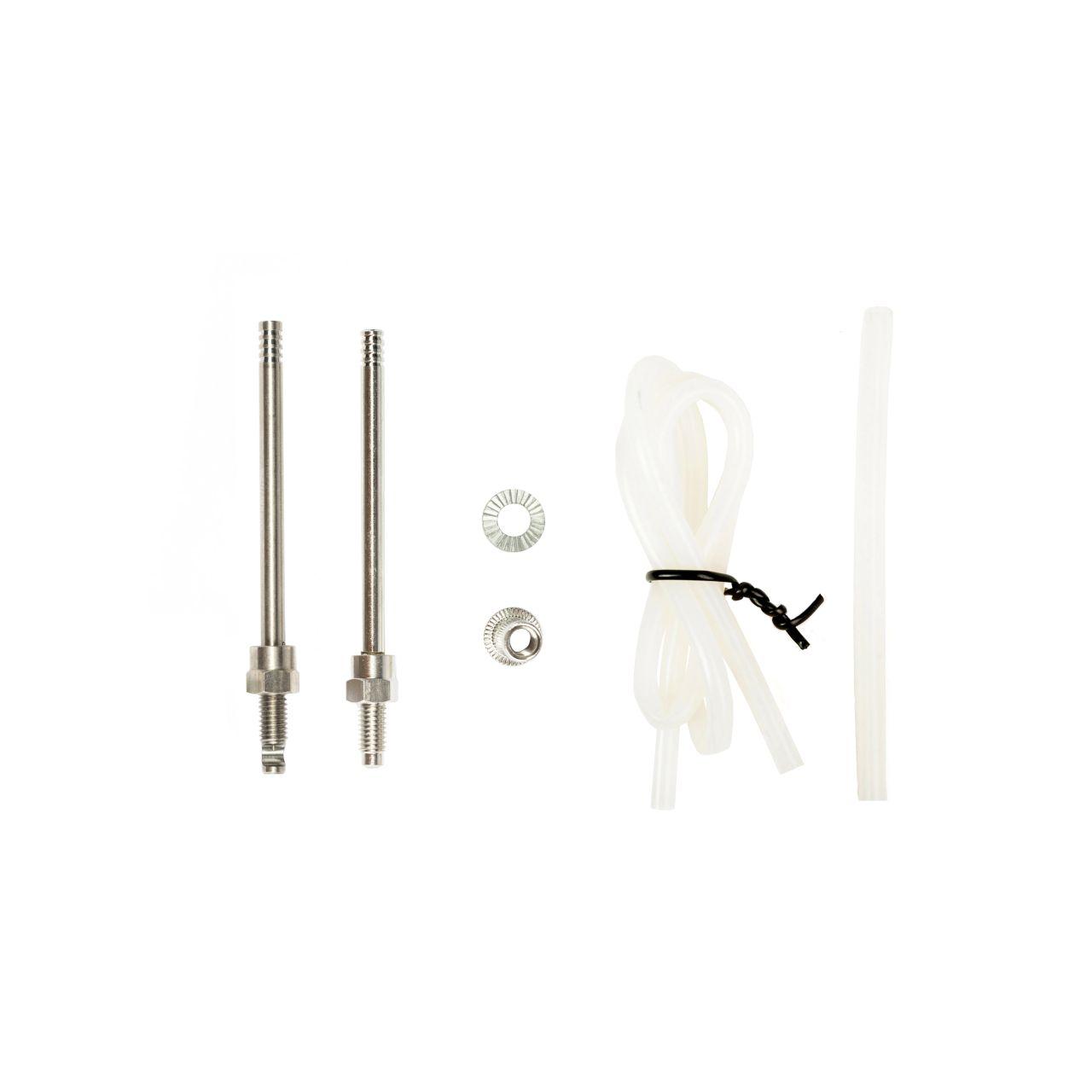 Die verschiedenen Injections Nadeln mit den Schläuchen