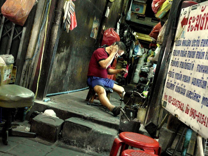 Typisch Chinatown: Hinterhofwerkstatt