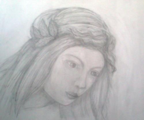 Eine Tochter Jethros nach Botticelli