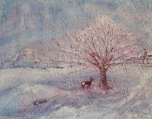 Reh im Schnee