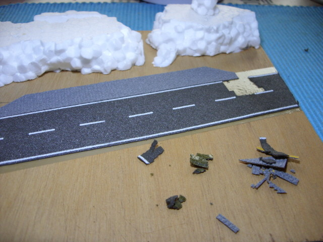 defekte Straße