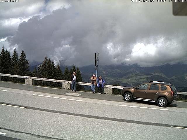 ein Foto von der Rossfeld - Webcam