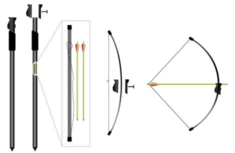 Conception d'un arc en carbone pour la marque Yshoot.com