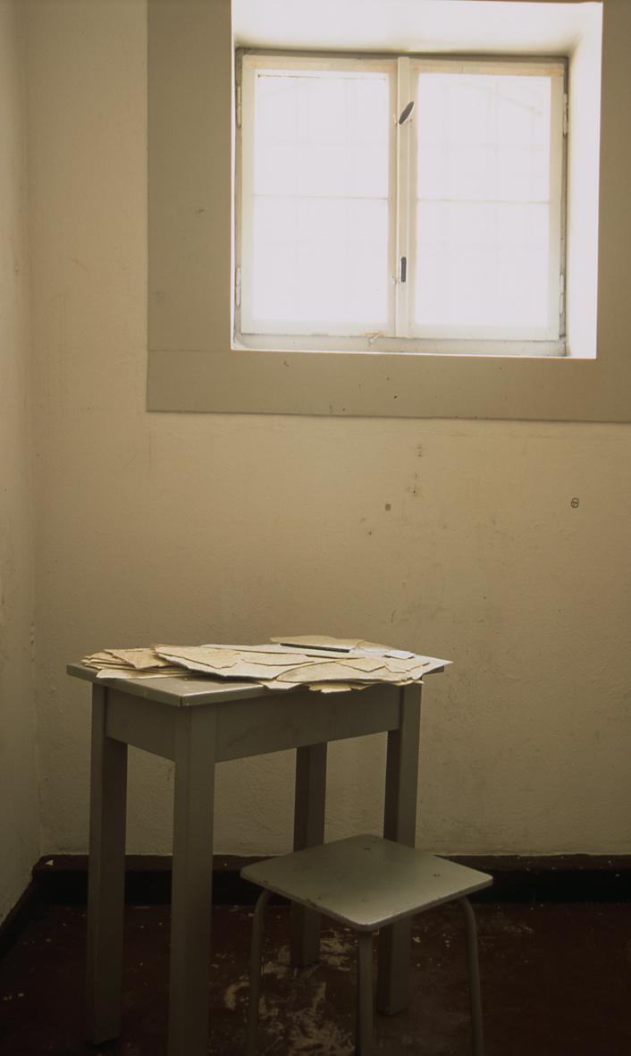 Installation 1 in a disused Stasi prison (Gefängnisbau Andreasstraße, Erfurt)