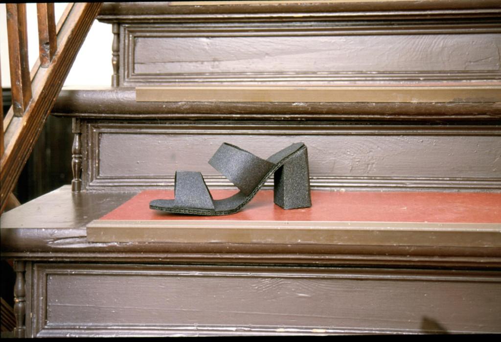 Aschenputtel wird nicht zurückkommen / Cendrillon ne reviendra pas / Cinderella will not come back (2002, mixed media, sandpaper)