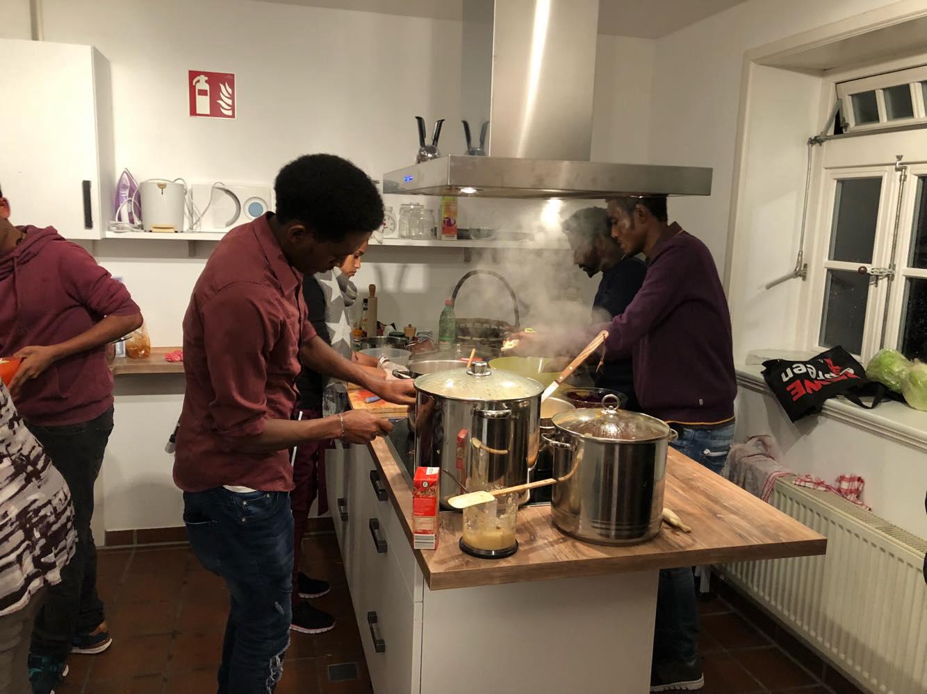 Ein letztes Mal kochen in diesem Jahr am 8. Dezember – eritreisch, scharf und vegan