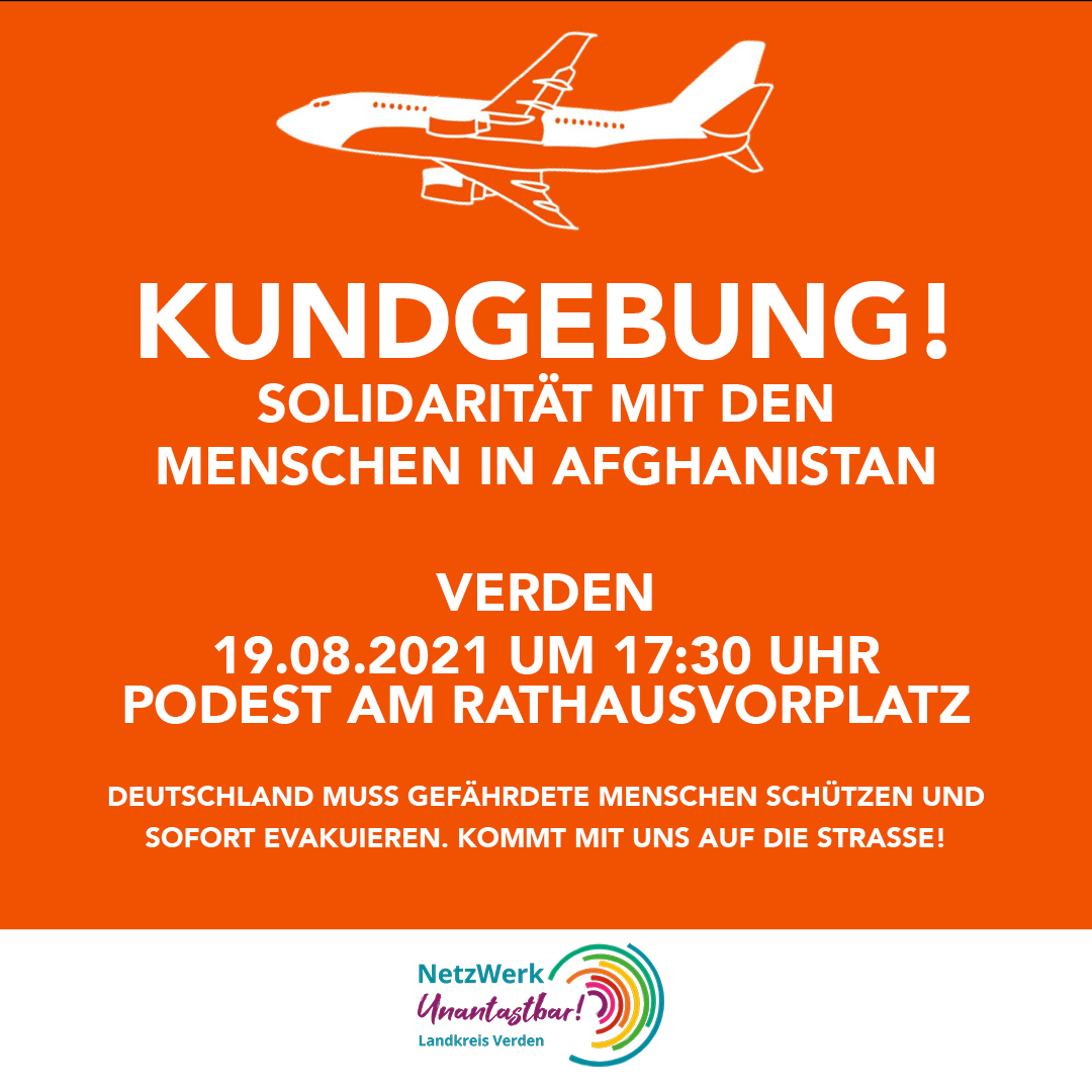 19.8.: Solidarität mit den Menschen in Afghanistan