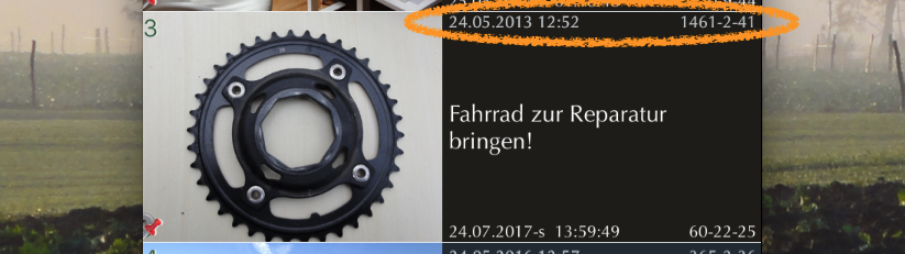 iPhone App FotoKlingl - Ereignisdatum und Uhrzeit