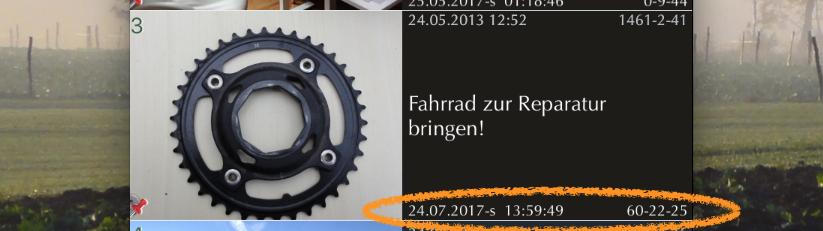 iPhone App FotoKlingl - Erinnerungsdatum
