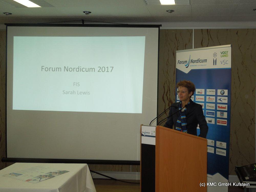 Sarah Lewis, FIS Generalsekretätin