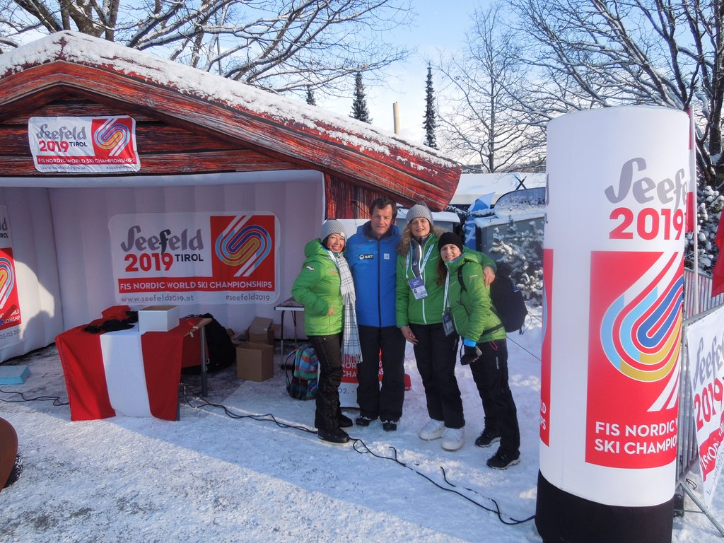 Michel Vion, Präsident France Ski Ass. (Mitte)