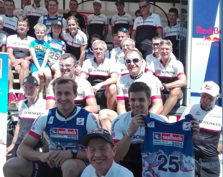 Das Team von DB Schenker mit den ÖSV Stars
