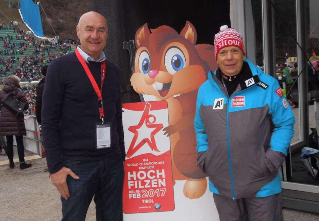 ORF Sportchef Hans-Peter Trost und Prof. Schröcksnadel