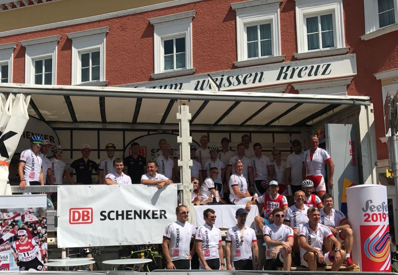 Das Radteam von DB Schenker