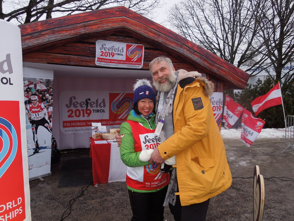 Bettina Friedrich (OK Seefeld) mit der finnischen LL Legende Juha Mieto