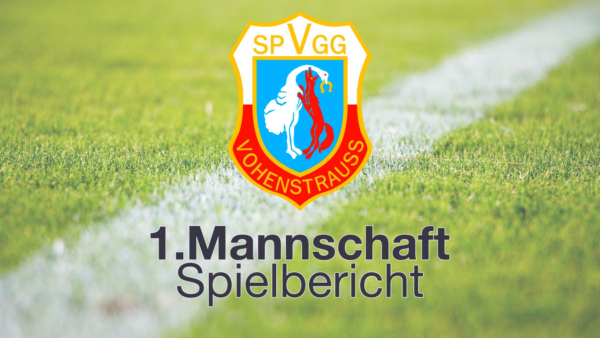 Spielbericht | SpVgg Vohenstrauß - SV Raigering