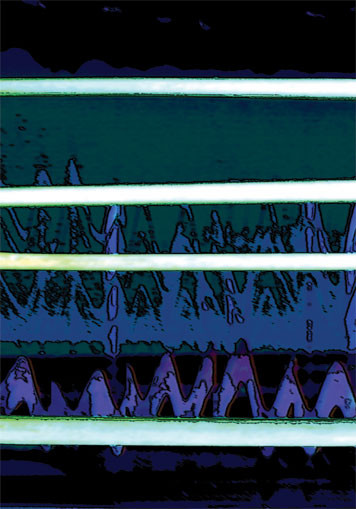 Laser. 2003. Ink on paper. 42 x 29cm. © Charles Rocco