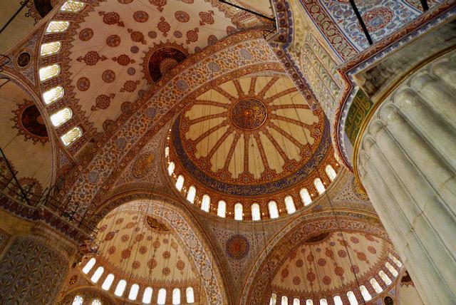 Hagia Sophia main vaulted ceiling, Istanbul