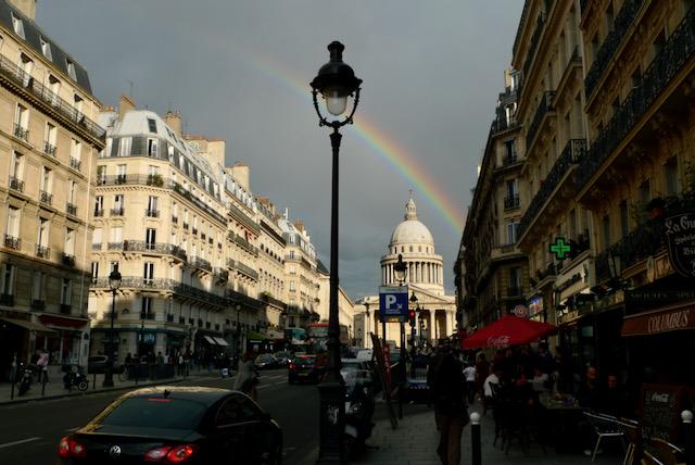 Pantheon rainbow, Paris