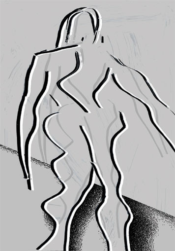 Stalwart Woman. 2003. Ink on paper. 42 x 29cm. © Charles Rocco