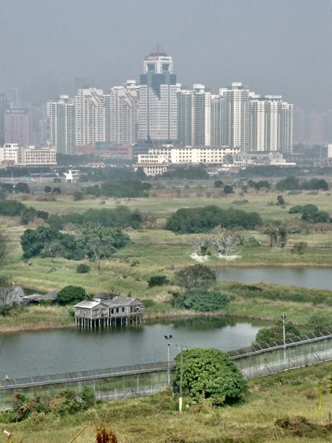 Hong Kong and mainland China border