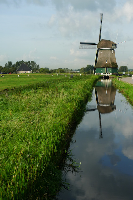 Classic Amsterdam windmill