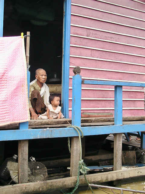 Generations on the Siem Reap River, Siem Reap