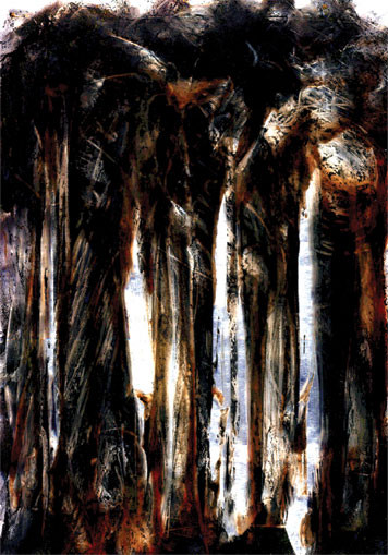 Brown Bush. 2003. Ink on paper. 42 x 29cm. © Charles Rocco