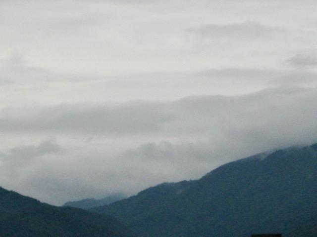 Arashiyama hills morning mist, Kyoto