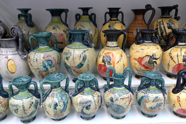 Grecian pots for sale, Athens