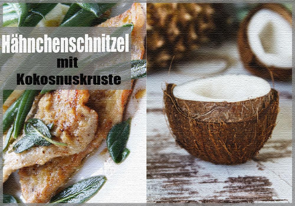 Low-Carb-Rezept: Hähnchenschnitzel mit Kokosnusskruste