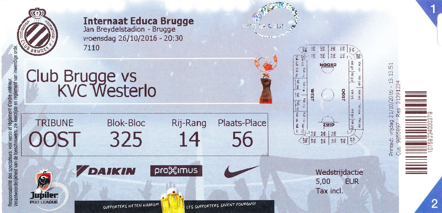 Wedstrijd Club Brugge