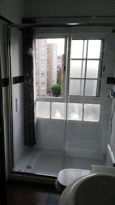 Mampara ducha corredera TEMPO instalada en Murcia capital