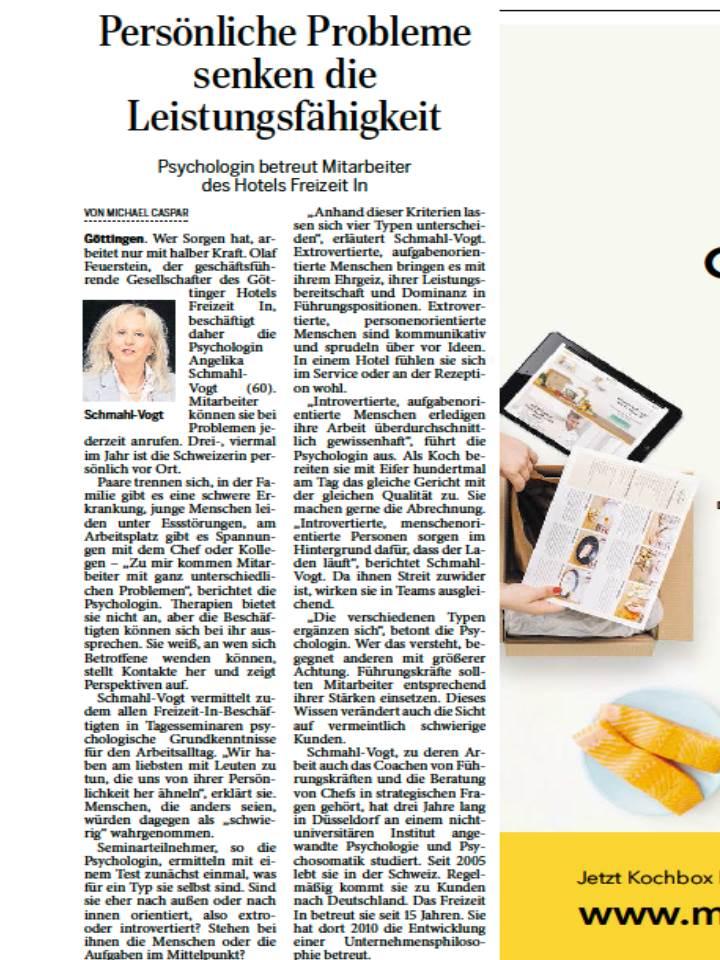 Artikel im Göttinger Tageblatt