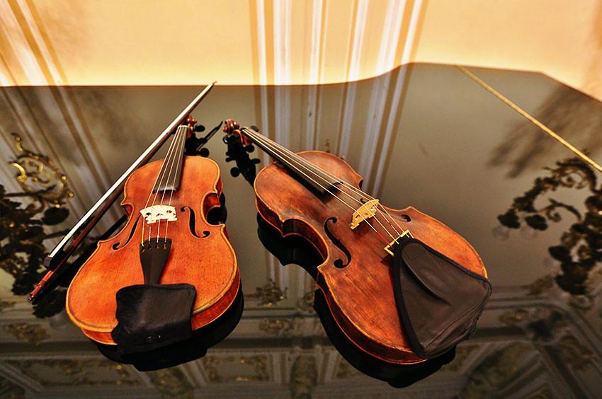 Скрипки перед концертом