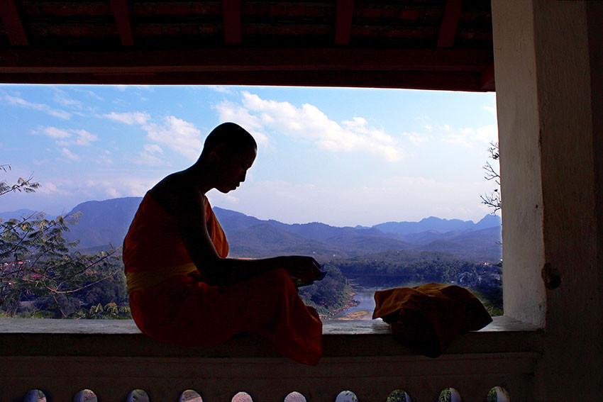 Монах. Лаос