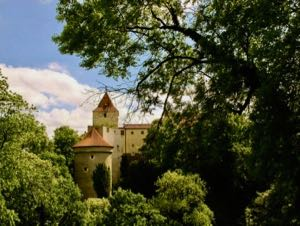 Blick vom Prager Hofgarten