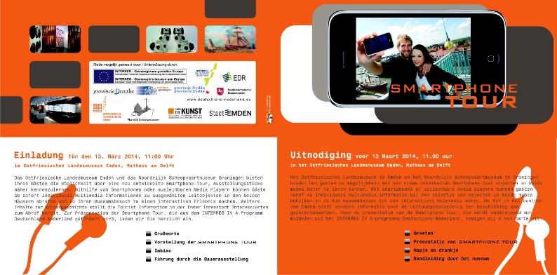 Drucksachengestaltung, Smartphonetour, Ostfriesisches Landesmuseum Emden