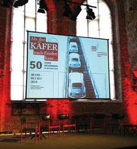Grafikdesign, VW-Ausstellungseröffnung  A Lasco Bibliothek Emden