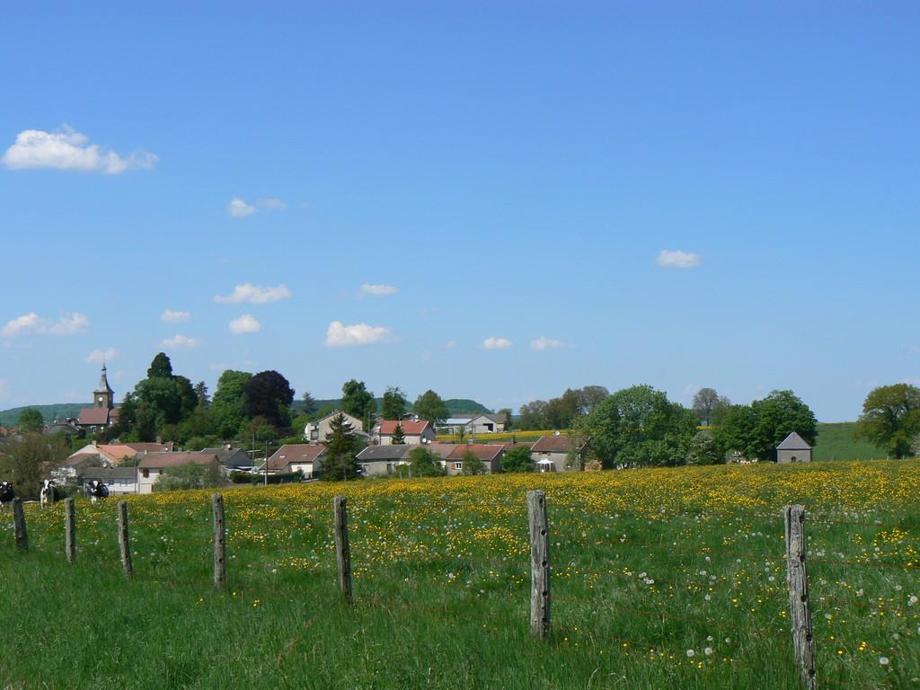 vue prise depuis la route menant à Robécourt