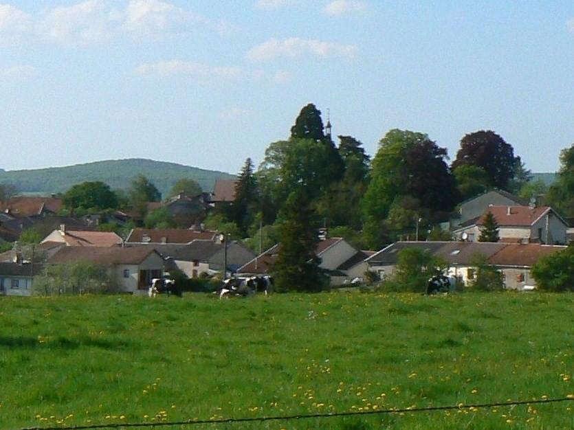 vue prise depuis le chemin de Chesnois