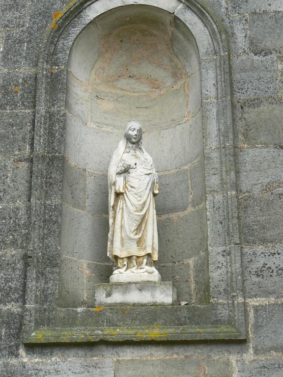 facade gauche de l'église