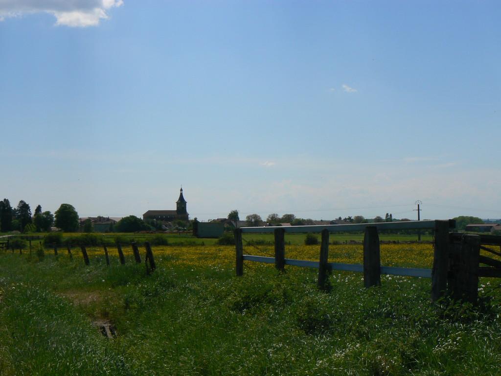 vue prise sur la route de St Ouen