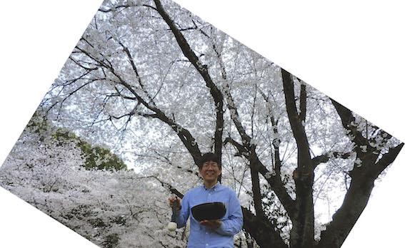 桜の下で シンギング・リン を奏でる