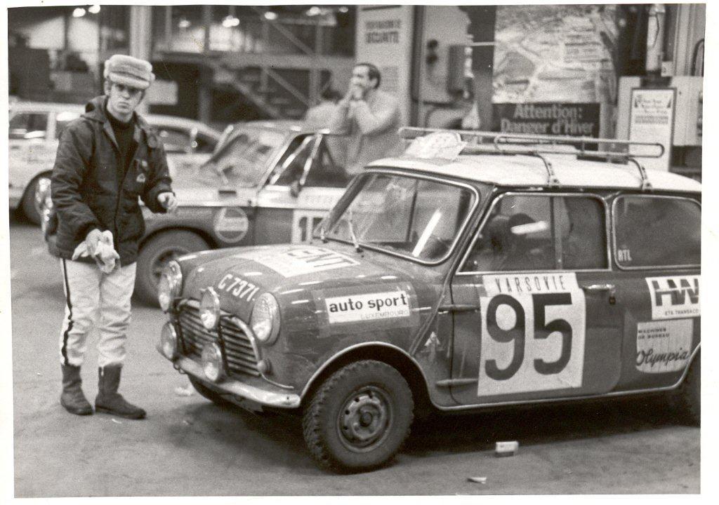 1970 dem Norbert säin eischten Monte Carlo mam Mini