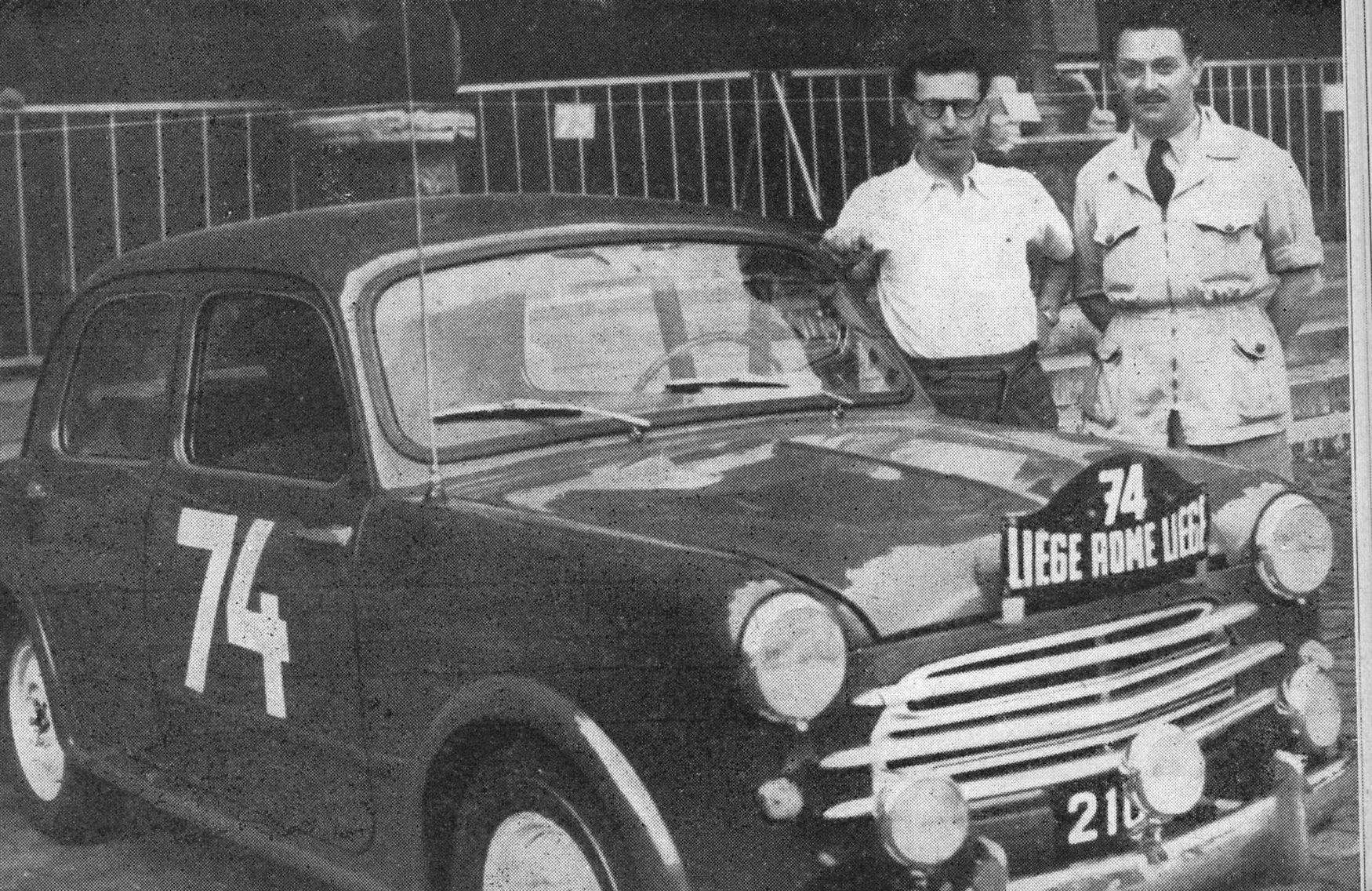 1953 Wagner H.-Radrizzi J. Liège-Rom-Liège    vor der Abfahrt in Liège