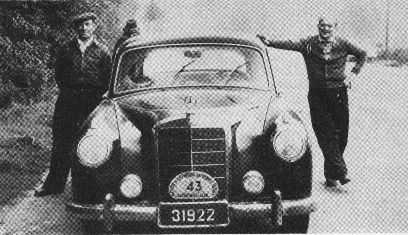 Jean Hauser mit Beifahrer P. Brodmann