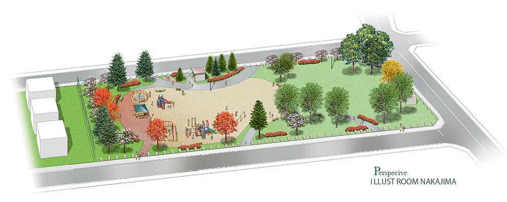 ランドスケープパース   公園3